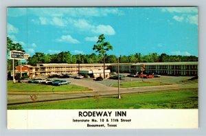 Beaumont TX- Texas, Rodeway Inn, Advertising, Panoramic View, Chrome Postcard