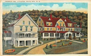 LITTLETON WHITE MTNS NEW HAMPSHIRE~CHISWICK INN 1920s POSTCARD