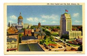 GA - Atlanta. State Capitol & City Hall