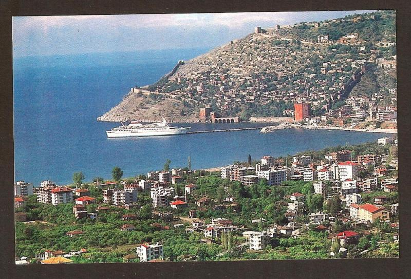 TURKEY VINTAGE POSTCARD -ALANYA