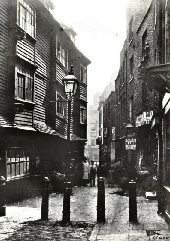 Victorian London reproduction Postcard, Peter's Lane, Smithfield 98X
