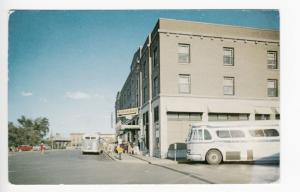 Detroit Lakes MN Greyhound Bus Depot Old Cars 1955 Postcard