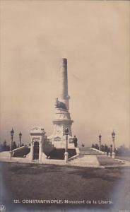 Turkey Constantinople Monument de la Liberte Real Photo