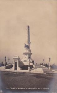 Turkey Constantinople Monument de la Liberte Real Photo