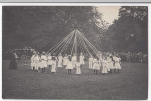 Social History, Group Of Children With Maypole RP PPC, c 1910's, Unposted