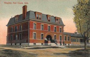 Hospital, Fort Crook, Nebraska, Early Postcard, Used