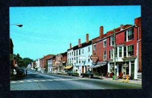 ME Water St Haye's Bakery HALLOWELL MAINE Postcard