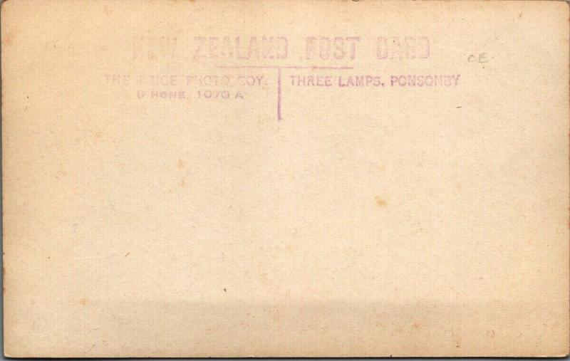 Queen Street Auckland NZ New Zealand Three Lamps Ponsonby RPPC Postcard E56