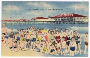Old Orchard Beach, Maine, Group Of Bathers
