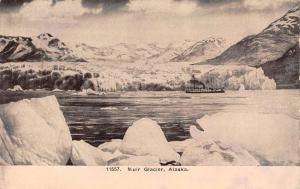 Muir Glacier Alaska Scenic Waterfront Antique Postcard K102707