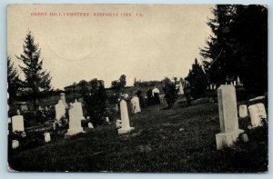 Postcard VA Stephens City Green Hill Cemetery Graves Tombstones c1910 View U8