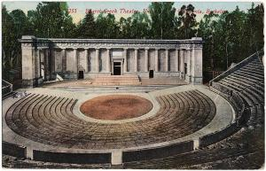 1912 Berkeley CA Hearst Theatre University of CALIFORNIA Exposition DB Postcard