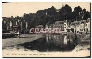 Old Postcard View Dinan Rance taken from the Old Port