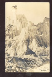 RPPC HELL'S HALF ACRE WYOMING UNUSUAL ROCK FORMATION REAL PHOTO POSTCARD