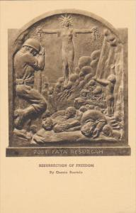 Sculpture Ressurection Of Freedom by Onorio Ruotolo New York Sculptor Albertype