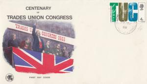 Centenary Of Trades Union Congress 1966 Stamp First Day Cover & Card