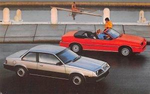 Auto After 1950 Post Card 1983 Pontiac 200 Coupe Omaha, Nebraska, USA Unused