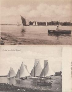 Racing on Oulton Broad Sailing Boats 2x Postcard s
