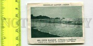 428237 FRANCE Cote Basque Advertising Chocolat Lanvin Dijon card
