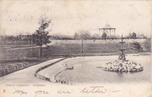 TUCK #768: SWINDON, Wiltshire, England, United Kingdom; Public Garden, Founta...