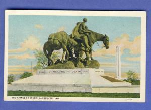 Nice Kansas City, Missouri/MO  Postcard, The Pioneer Mother
