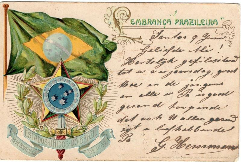 Estados Unidos Do Brasil 1889 Postcard 01.54