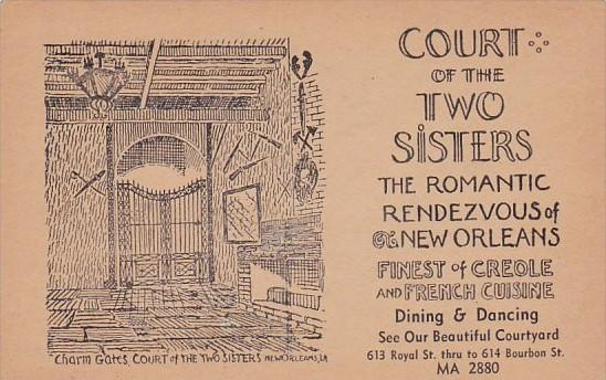 Court Of Two Sisters Restaurant New Oreleans Louisiana