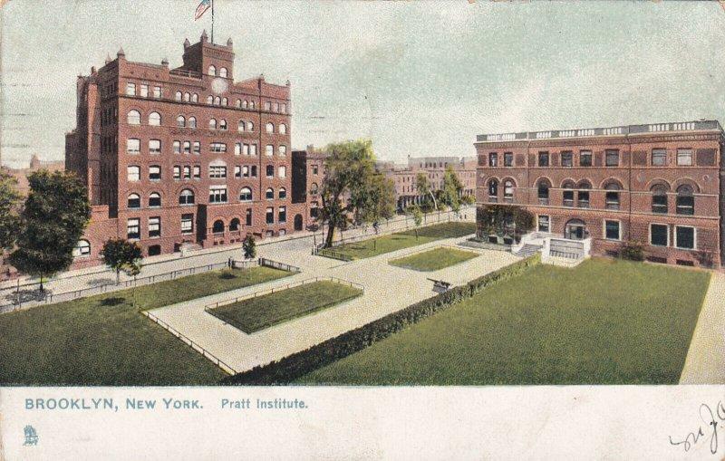 BROOKLYN, New York, PU-1907; Pratt Institute, TUCK No. 5722