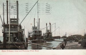 NEW ORLEANS , Louisiana , 1907 ; Levee & River Boats