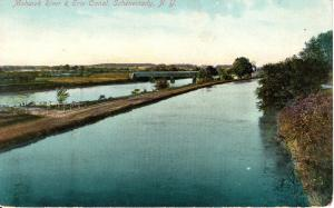 US    PC1480  MOHAWK RIVER & ERIE CANAL, SCHENECTADY NY  1910