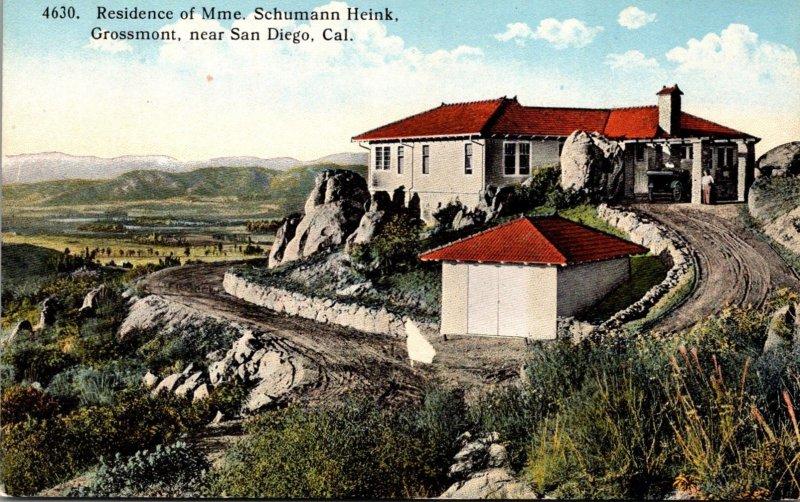 California San Diego Grossmont Residence Of Mme Schumann Heink