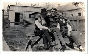 RPPC   WW1  DOUGHBOY  & His Two Buddies  ~  Gay Interest  c1910s  Postcard