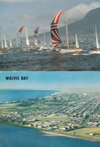 Walvis Bay Aerial & Boat Race at Table 2x South Africa Postcard s