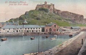St. Michael's Mount From The Pier Head, Cornwall, England, UK, 1900-1910s