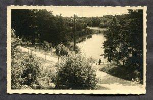 dc157 - LATVIA Ogre 1939 Scene in Park. Real Photo Postcard