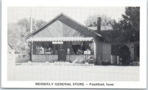 Fitchford, Iowa Postcard MESSERLY GENERAL STORE Street View c1950s Unused