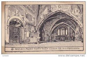 Italy - Perugia - Assisi Primo Chiesa S Franseco drawing ( Galli 1923 ) 00s