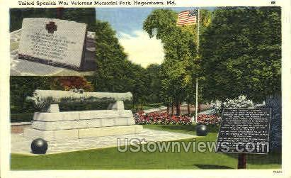 United Spanish War Hagerstown MD Unused