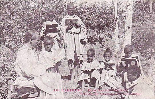 Ethiopia Missionary With Children