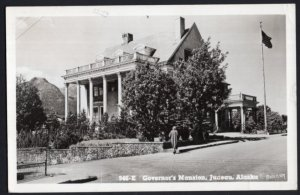 Alaska JUNEAU Governor's Mansion - pm1953 - RPPC Real Photo Post Card 6c STAMP
