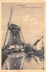 Rotterdam Holland Molen aan de Bersche Plas Rotterdam Molen aan de Bersche Plas