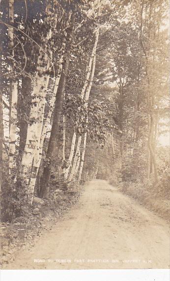 Road To Dublin Past Shattuck Inn Jaffrey New Hampshire Real Photo