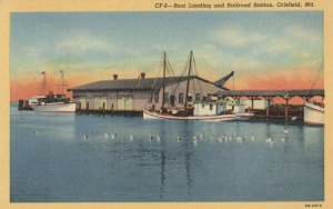 CRISFIELD , Maryland , 1930-40s ; Boat Landing