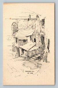 Cornwall, UK-United Kingdom, Bunkers Hill, St. Ives, Vintage Postcard
