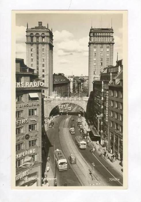 RP  Street view, Stockholm, Sweden 1940s