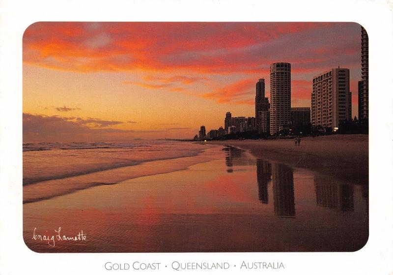 Postcard Tranquil Dawn Over the GOLD COAST Australia Large Format 170x120mm