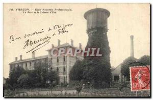 Old Postcard Vierzon Professional National School Park and the Chateau d & # ...
