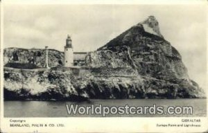 Europa Point & Lighthouse Gibraltar Germany 1925