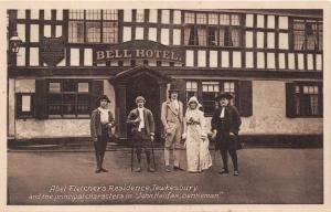 TEWESBURY UK BELL HOTEL~ABEL FLETCHER'S RESIDENCE~JOHN HALIFAX~ PHOTO POSTCARD