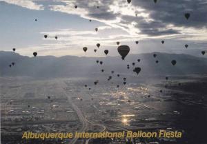 Early morning scene of the Albuquerque International Balloon Fiesta, Albuquer...